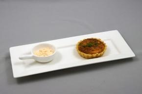 amuse - Zalmtaartje met citrus-tomatenmayonaise